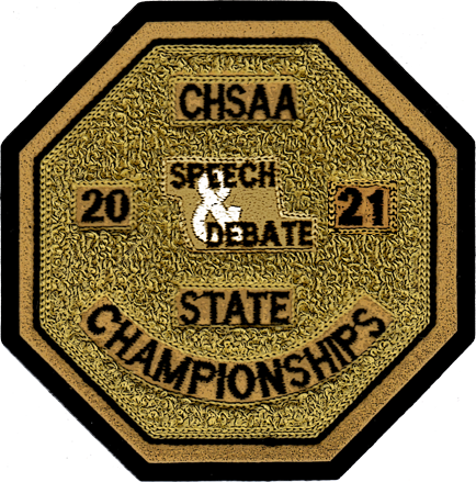2021 CHSAA State Championship Speech & Debate Patch