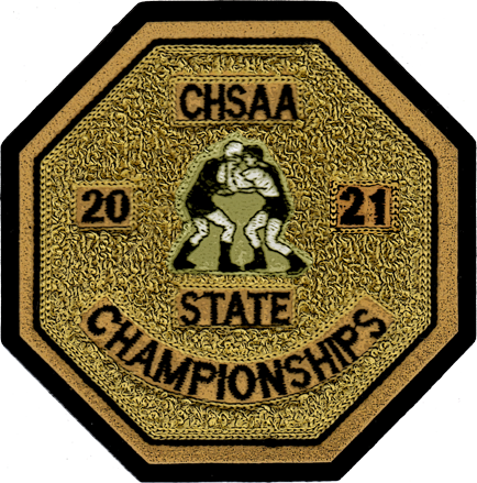 2021 CHSAA State Championship Wrestling Patch