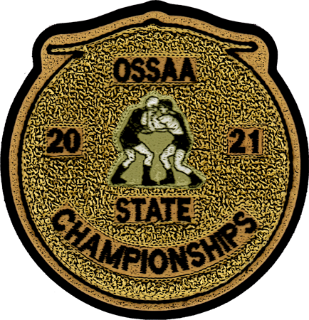 2021 OSSAA State Championship Wrestling Patch