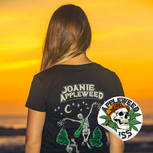 Joanie Appleweed Black T- Shirt