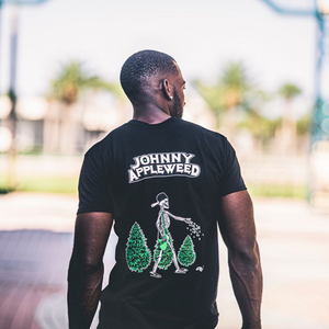 Johnny Appleweed Black T-Shirt