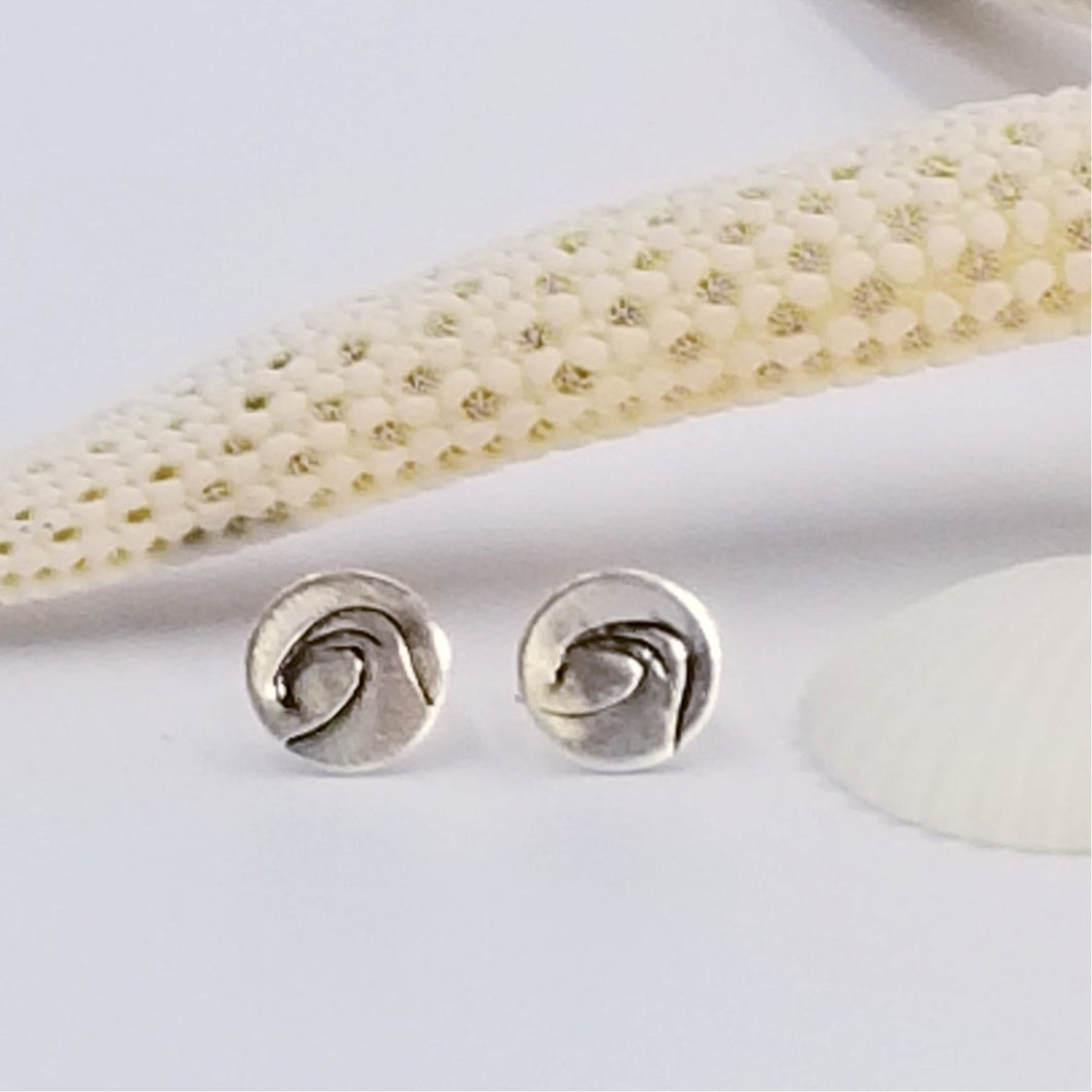 Sterling Wave Studs - Changing Tides Jewelry