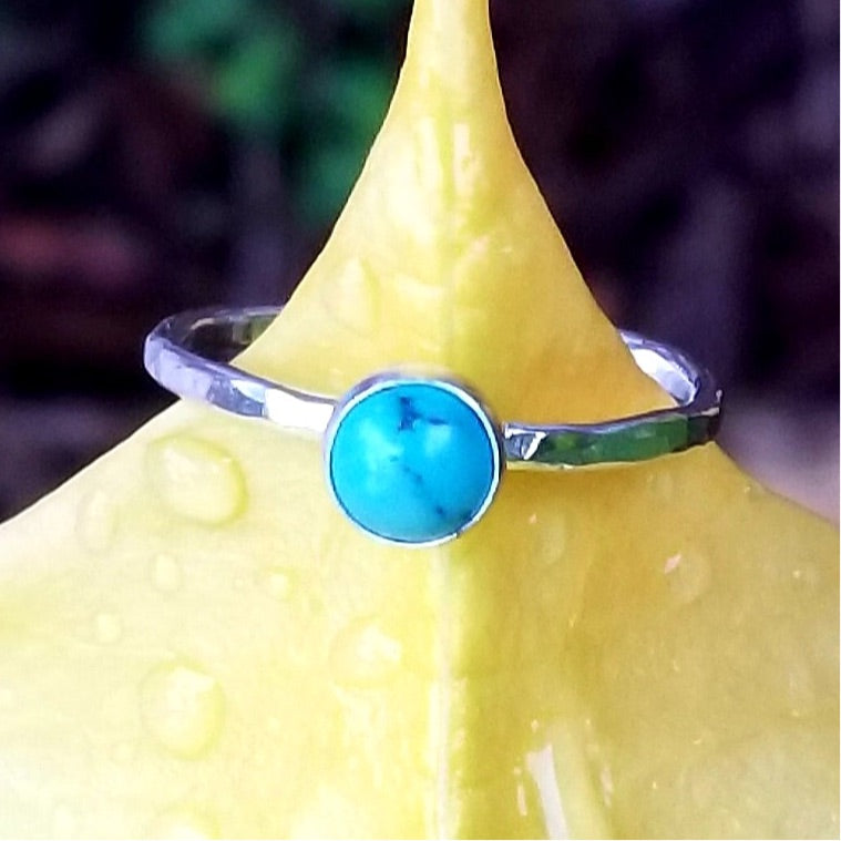 Stacker Ring - Turquoise - Changing Tides Jewelry