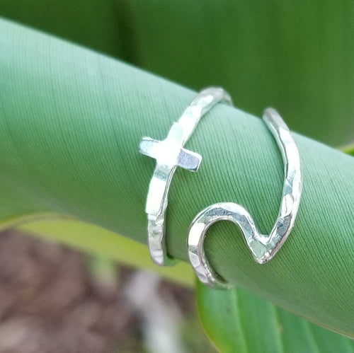 Stacker Ring - Cross - Changing Tides Jewelry