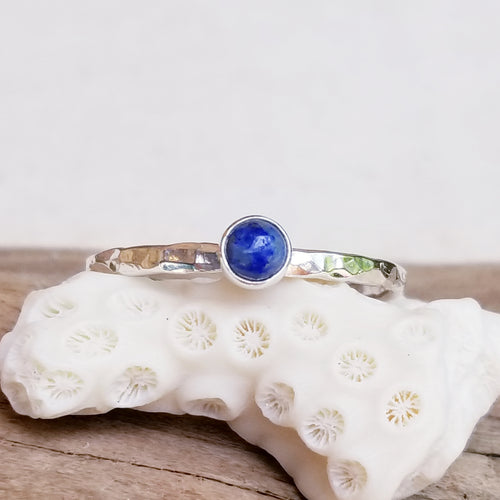 Stacker Ring - Lapis Lazuli - Changing Tides Jewelry