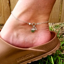 Load image into Gallery viewer, Sand dollar, crystal, mother of pearl anklet - Changing Tides Jewelry