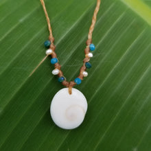Load image into Gallery viewer, Sandkissed Surfer Necklace - Shiva Shell & Crystals