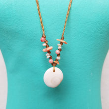 Load image into Gallery viewer, Sandkissed Surfer Necklace - Shiva Shell & Coral