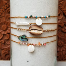 Load image into Gallery viewer, Sandkissed Surfer Anklet - Hawaiian Abalone Paua