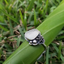 Load image into Gallery viewer, Sea Glass and Succulent Ring No.3 Size 9