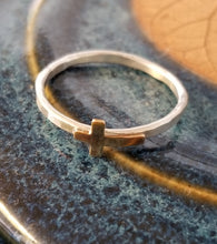 Load image into Gallery viewer, Stacker Ring - Brass Cross