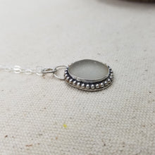 Load image into Gallery viewer, Grey Sea Glass Pendant