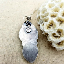Load image into Gallery viewer, Sea Sediment Jasper, Cowrie Shell, Sterling Silver Necklace