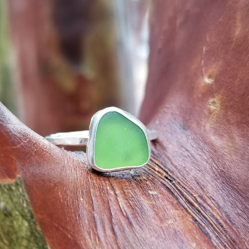 Talulah Sea Glass Ring No.26 size 9.75