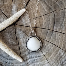 Load image into Gallery viewer, White Scallop Pendant - Customizable