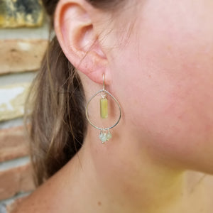 Ocean Jasper & Jade Earrings