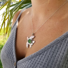Load image into Gallery viewer, Hammered Mixed Metal & Sea Glass Turtle