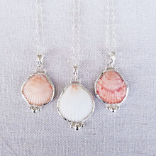 Load image into Gallery viewer, Bezeled Shell Pendant with Hidden Message