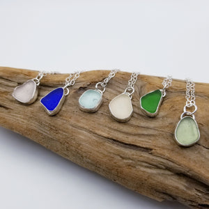 Bezeled Sea Glass Pendants