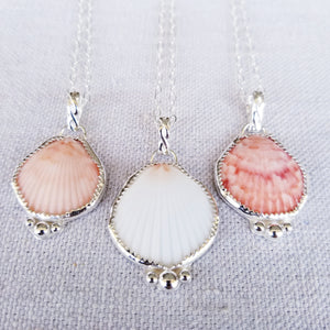 Bezeled Shell Pendant with Hidden Message