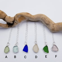 Load image into Gallery viewer, Bezeled Sea Glass Pendants