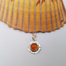Load image into Gallery viewer, Carnelian Sun Pendant #2