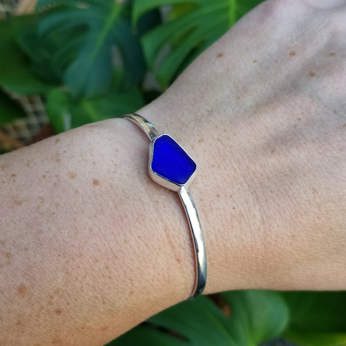 Meraki Cuff - Cobalt Sea Glass