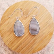Load image into Gallery viewer, Mother of Pearl Teardrop Earrings