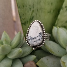 Load image into Gallery viewer, White Buffalo Turquoise Ring