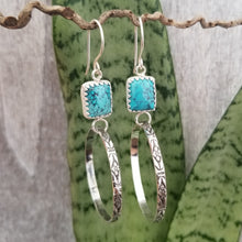 Load image into Gallery viewer, Hubei Turquoise Hoop Earrings