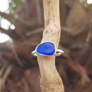 Capri Sea Glass Ring  No.24    Size 7.5