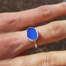 Load image into Gallery viewer, Capri Sea Glass Ring  No.25    Size 8