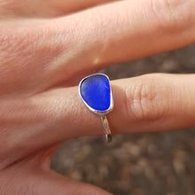 Load image into Gallery viewer, Capri Sea Glass Ring  No.24    Size 7.5