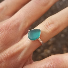 Load image into Gallery viewer, Capri Sea Glass Ring  No.17    Size  6