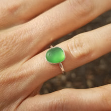 Load image into Gallery viewer, Capri Sea Glass Ring  No.15   Size 5.5