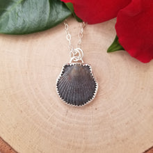 Load image into Gallery viewer, Black Seashell Necklace