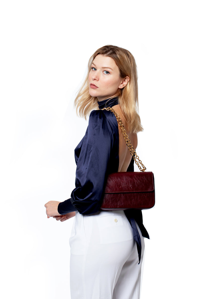 Golden Hour Multi Way Bag in Rich Bordeaux - Silver & Riley