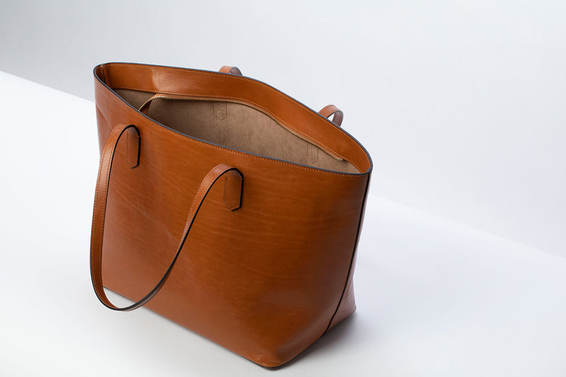 Manila All Purpose Tote Bag in Camel - Silver & Riley