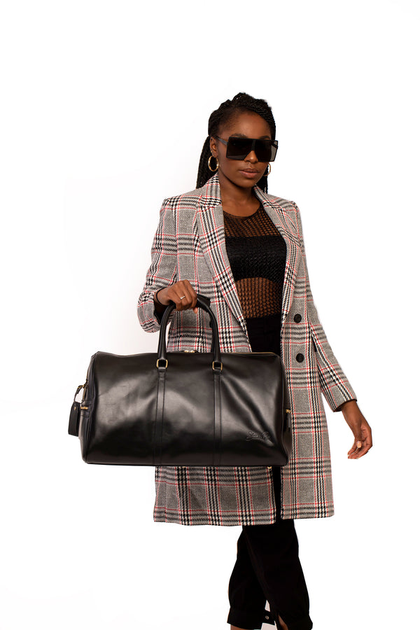Carryall Duffle Bag in Noir - Silver & Riley