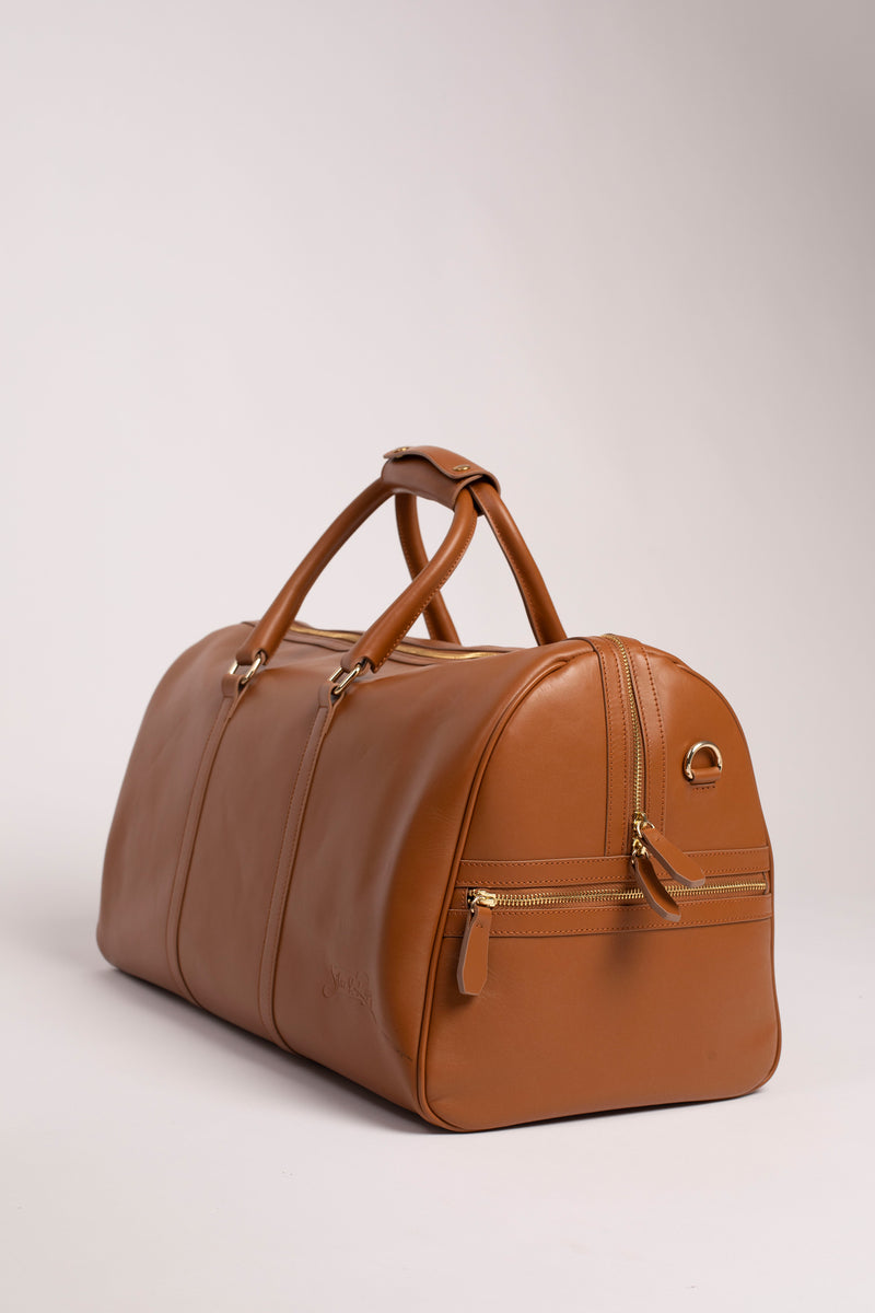 Carryall Duffle Bag in Camel - Silver & Riley