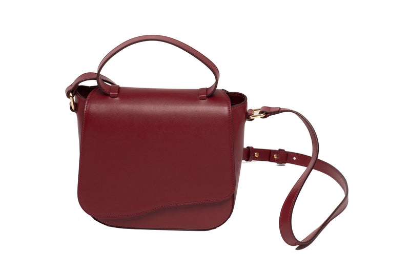 Milan Crossbody Bag in Maroon - Silver & Riley