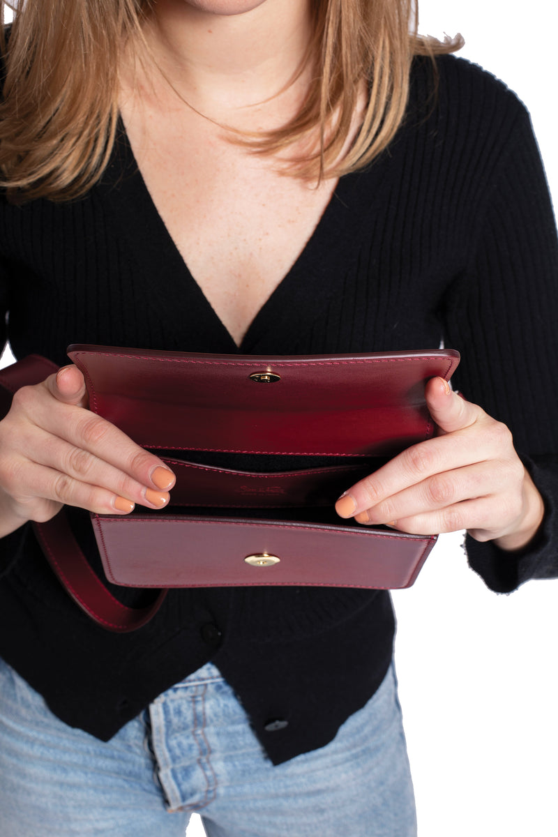 Going Places Belt Bag in Bordeaux
