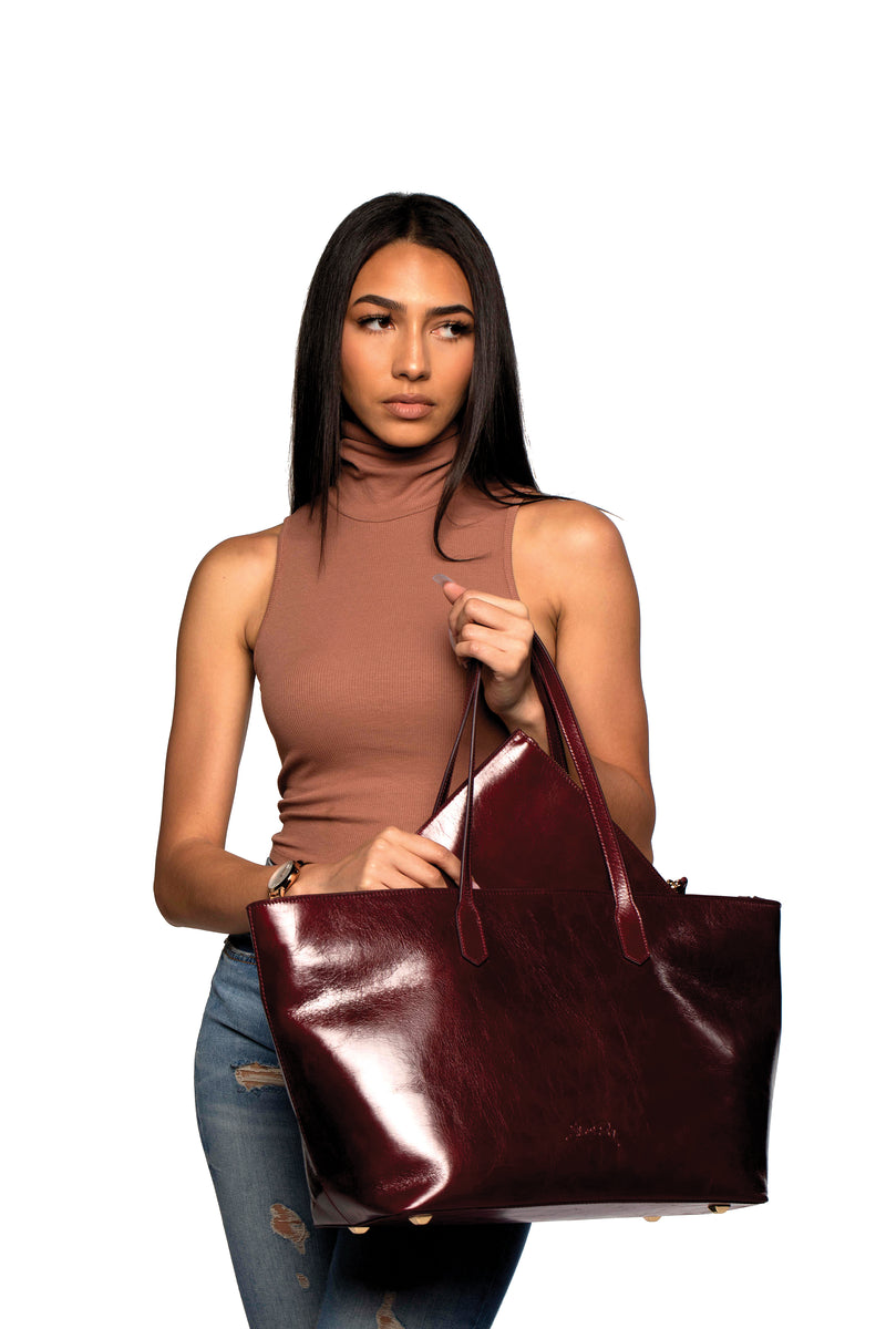 Manila All Purpose Tote Bag in Polished Burgundy