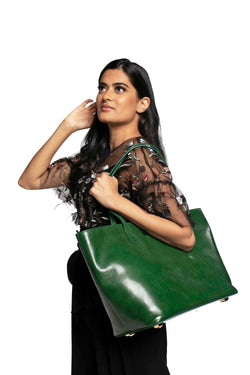 Manila All Purpose Tote Bag In Forest Green