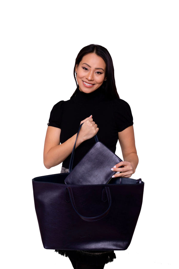 Manila All Purpose Tote Bag in Midnight Blue