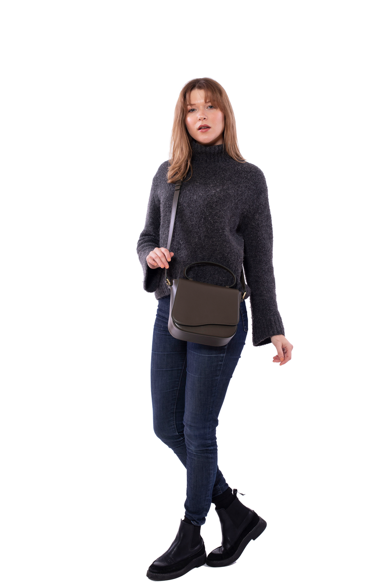Milan Crossbody Bag in Dark Olive Green - Silver & Riley