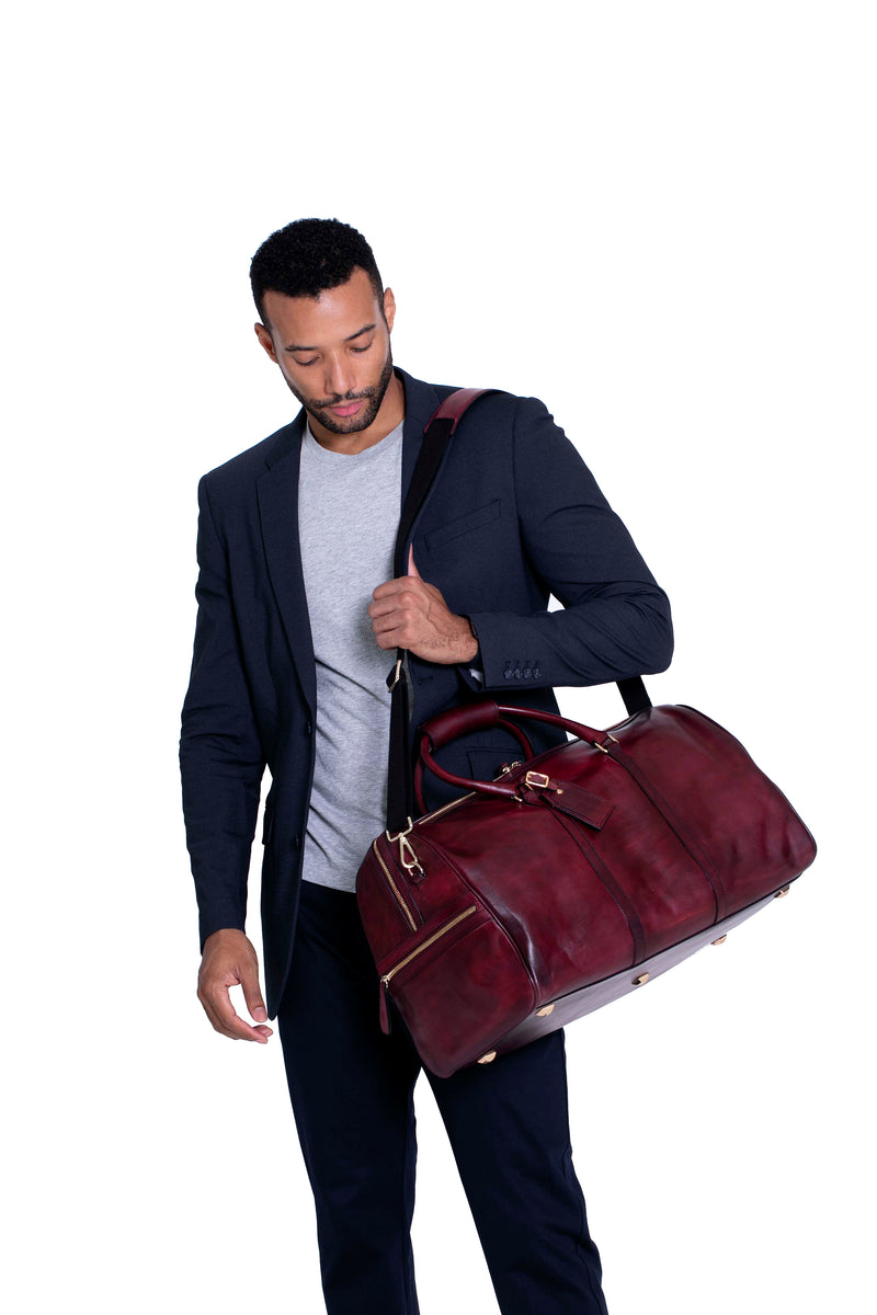 Carryall Duffle Bag in Oxblood