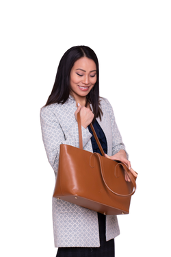 SoHo Mini Tote Bag in Camel - Silver & Riley