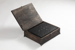 "Load image into Gallery viewer, ""Gravelord Servant Edition"" Italian-leather copy of You Died with handcrafted oak coffin)"