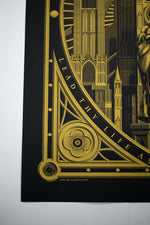 "Load image into Gallery viewer, Mother & Child print (""Gold-Hemmed Black"" limited edition)"